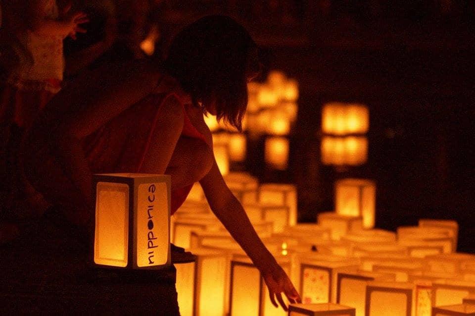 A Bologna: Il Sole di Hiroshima. Cerimonia delle lanterne galleggianti
